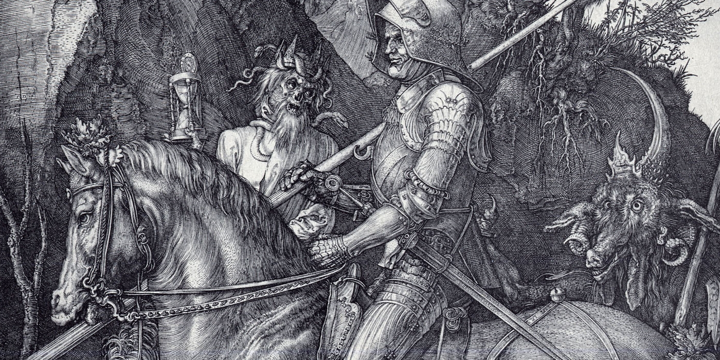 knight death and the devil N usually in reference to a 'fuckboy' -a penis so fucking enchanted it is  capable of putting one under a spell much like the devil himself a penis so.